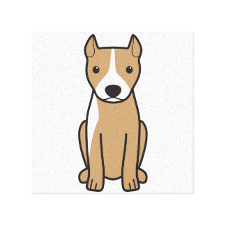 American Pit Bull Terrier (Cropped Ears) Gallery Wrapped Canvas