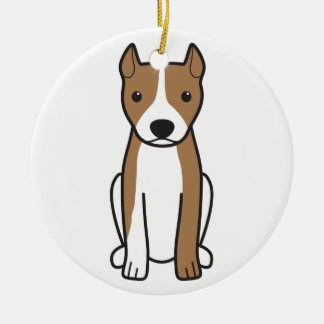 American Pit Bull Terrier (Cropped Ears) Ornaments