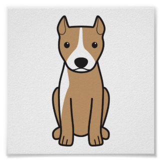 American Pit Bull Terrier (Cropped Ears) Posters