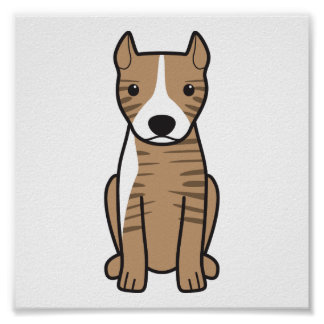 American Pit Bull Terrier (Cropped Ears) Poster