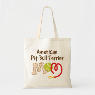 American Pit bull Terrier Dog Breed Mom Gift Tote Bags