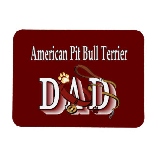 American Pit Bull Terrier Dog Dad Magnets