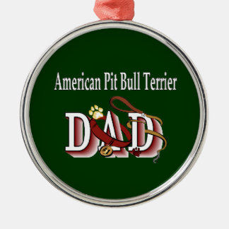 American Pit Bull Terrier Dog Dad Metal Ornament