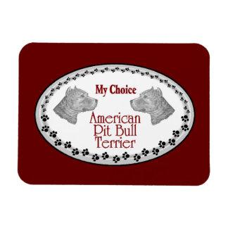American Pit Bull Terrier Dog Rectangular Magnets