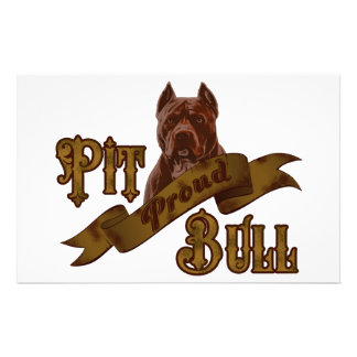 American Pit Bull Terrier Dog Stationery