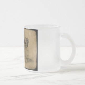 American Pit Bull Terrier Frosted Glass Coffee Mug