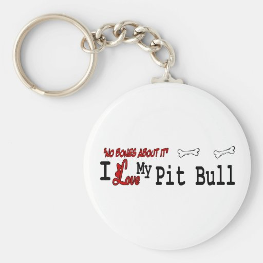 American Pit Bull Terrier Gifts Basic Round Button Keychain
