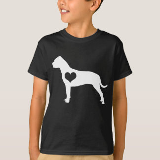 American Pit Bull Terrier Heart Kids Dark T-Shirt