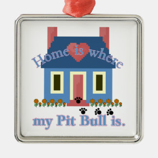 AMERICAN PIT BULL TERRIER Home Is Christmas Ornaments