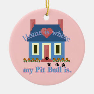 AMERICAN PIT BULL TERRIER Home Is Christmas Tree Ornaments
