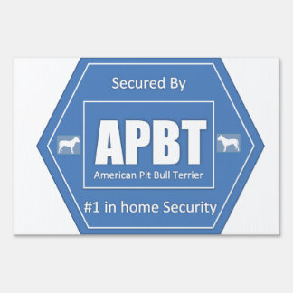 American Pit Bull Terrier Home Security Sign