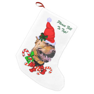American Pit Bull Terrier Merry Small Christmas Stocking