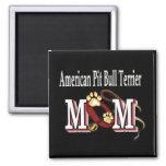 american pit bull terrier mom Magnet