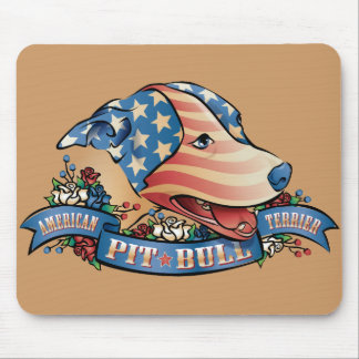 American Pit Bull Terrier Mouse Mats