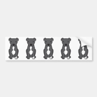 American Pit Bull Terrier (Natural Ears) Bumper Stickers