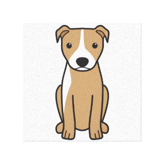 American Pit Bull Terrier (Natural Ears) Stretched Canvas Prints