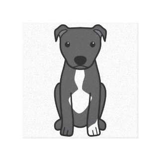 American Pit Bull Terrier (Natural Ears) Gallery Wrapped Canvas