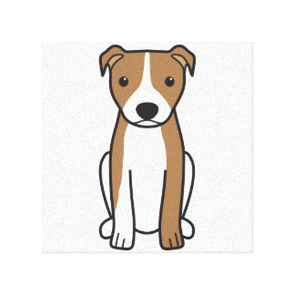 American Pit Bull Terrier (Natural Ears) Stretched Canvas Print