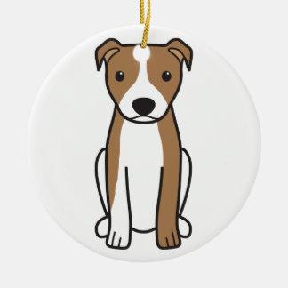 American Pit Bull Terrier (Natural Ears) Ceramic Ornament