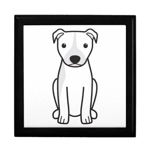 American Pit Bull Terrier (Natural Ears) Trinket Box
