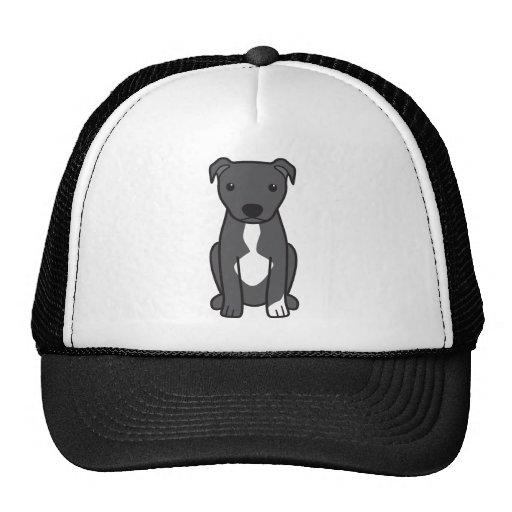 American Pit Bull Terrier (Natural Ears) Mesh Hats