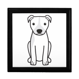 American Pit Bull Terrier (Natural Ears) Jewelry Box