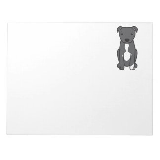 American Pit Bull Terrier (Natural Ears) Note Pad