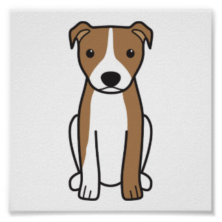 American Pit Bull Terrier (Natural Ears) Poster
