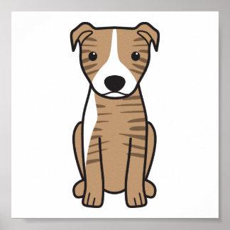 American Pit Bull Terrier (Natural Ears) Poster