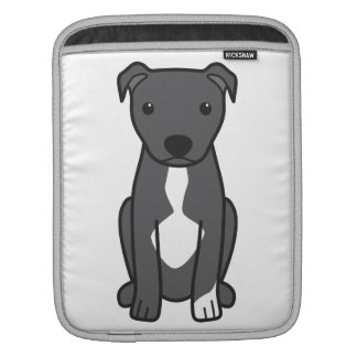 American Pit Bull Terrier (Natural Ears) Sleeve For iPads