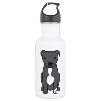 American Pit Bull Terrier (Natural Ears) Water Bottle