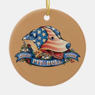 American Pit Bull Terrier Ornaments