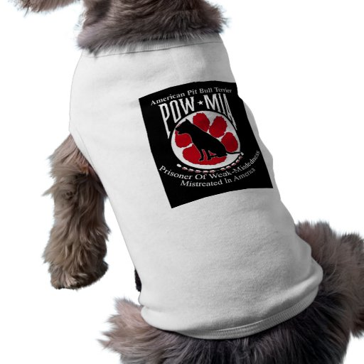 American Pit Bull Terrier POW Doggy Dog T Shirt