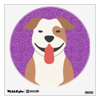 American Pit Bull Terrier Round Wall Decal