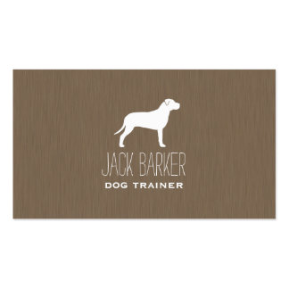 American Pit Bull Terrier Silhouette Business Card Templates