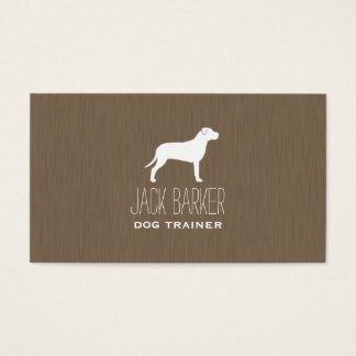 American Pit Bull Terrier Silhouette Business Card