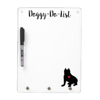 American Pit Bull Terrier Silhouette Dry-Erase Board