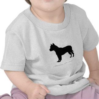 American Pit Bull Terrier silhouette Tshirts
