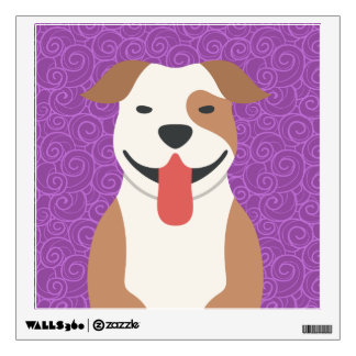American Pit Bull Terrier Square Wall Decal