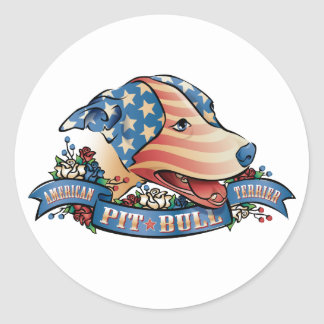 American Pit Bull Terrier Round Stickers
