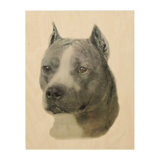 American Pit Bull Terrier Wood Wall Decor