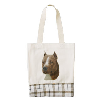 American Pit Bull Terrier Zazzle HEART Tote Bag