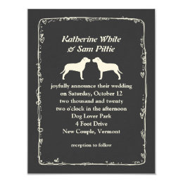 American Pit Bull Terriers Wedding Announcement