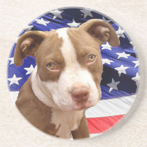 American Pitbull puppy Coaster