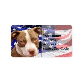 American Pitbull puppy Address Label
