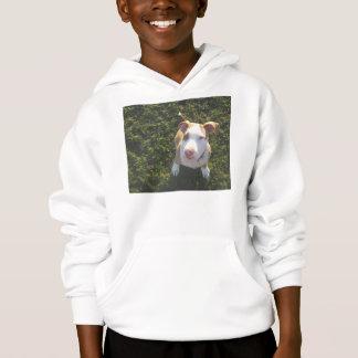 american PitBull terrier Looking Up Hoodie