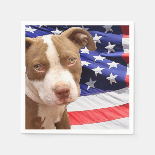 American Pitbull Terrier pup Disposable Napkins