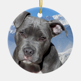 American Pitbull Terrier Puppy Dog Ornaments