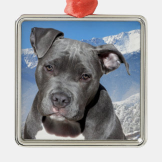 American Pitbull Terrier Puppy Dog Christmas Ornament