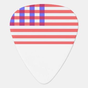 USA Themed american plaid flag guitar pick